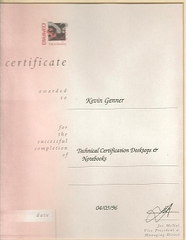 Qualified Telford Compaq Computer Engineer